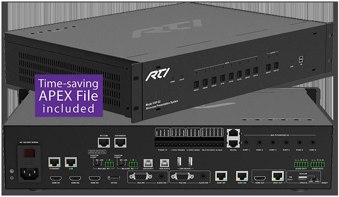 RTI VXP-82 8x2 All-In-One Control Processor & AV Presentation Switcher