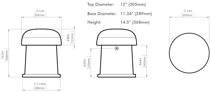 Sonance OMNI-6T dimensions