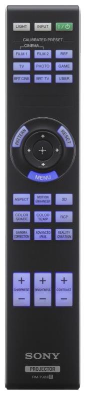 Sony vpl-hw55es remote-control
