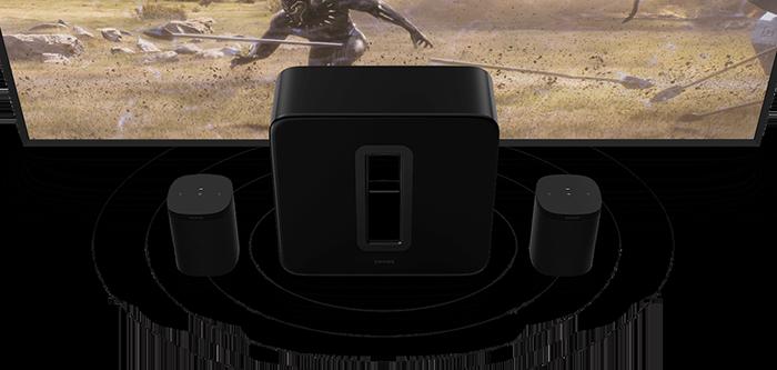 Sonos Sub Gen3 soundwaves