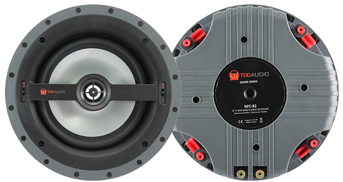 "TDG Audio NFC-82 8"" Aluminium Architectural In-Ceiling Speaker"