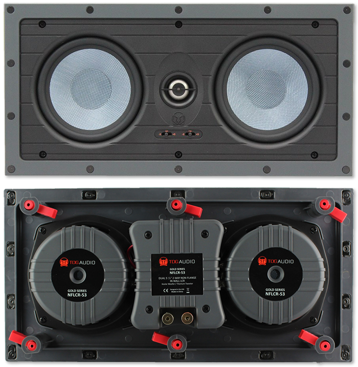 """TDG Audio NFLCR-53 Dual 5"""" In-Wall LCR Speaker"""