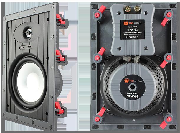 """TDG Audio NFW-62 6.5"""" Aluminium Architectural In-Wall Speaker"""
