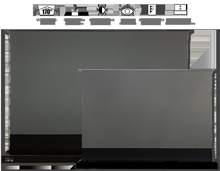 Vividstorm ALR Floor Rising Pro-Tension 16-9 Projection Screens