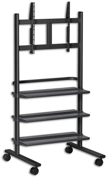 "Vogels PB150 36-55"" Display Trolley with 3 Shelves"