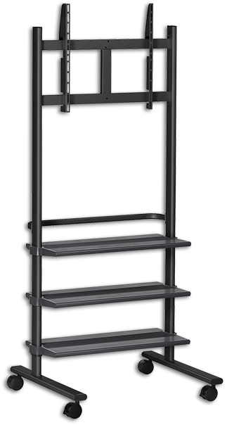 "Vogels PB175 36-55"" Display Trolley with 3 Shelves"