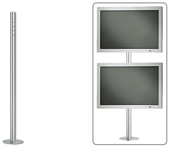 Vogels PFA9011 Flat Display Fixed Stainless Steel Floor Stand