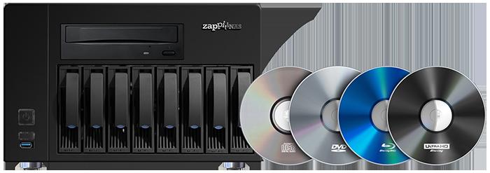 Zappiti 4K HDR 8-Bay NAS Enclosure With RIP Function