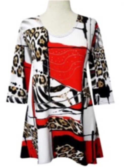 Tunics with Sparkles Red, Zebra and Leopard