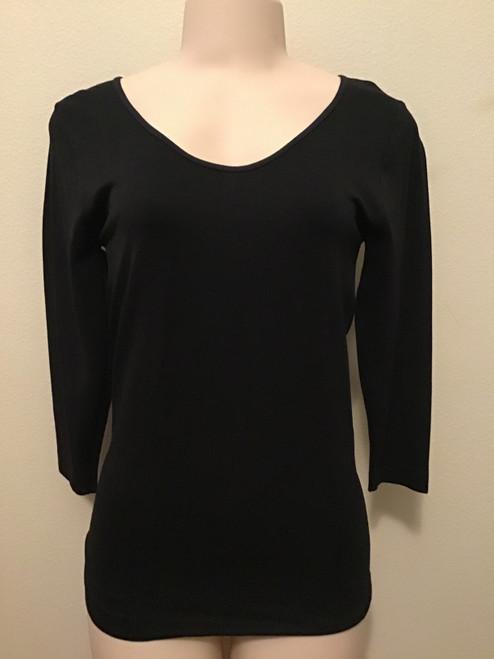 Slim-Fit One-Size Top Black