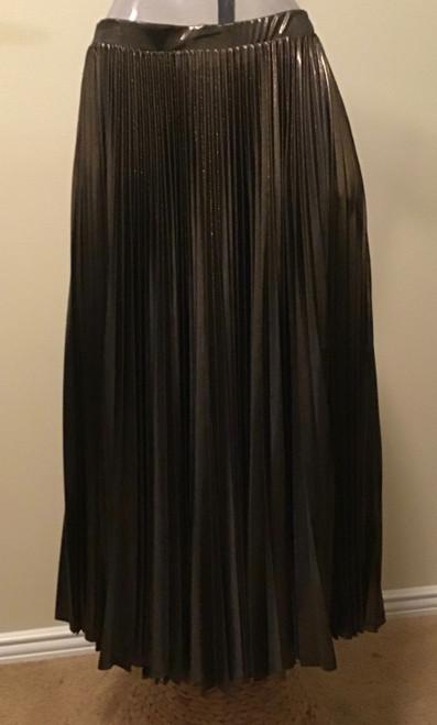 Bronze pleated skirt