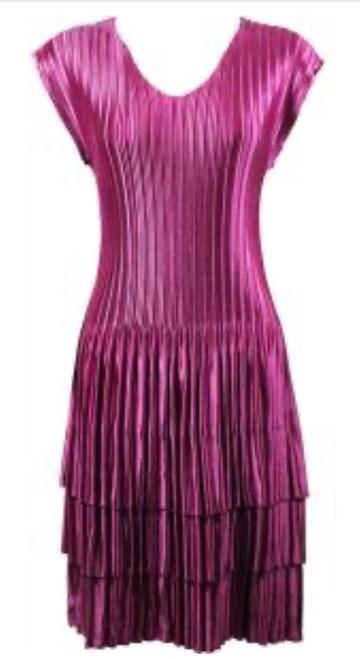 Cap Sleeve Dress Hot Pink