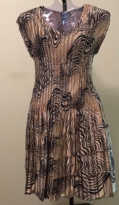 Cap Sleeve Dress Animal Swirl