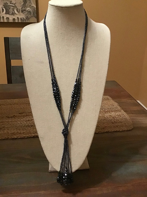 Knotted Necklace Charcoal