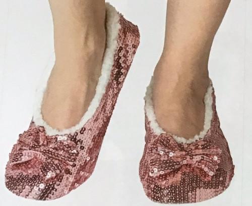 Sequin Ballet Slippers Pink