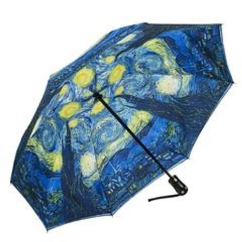 Starry Night Reverse Close Umbrella