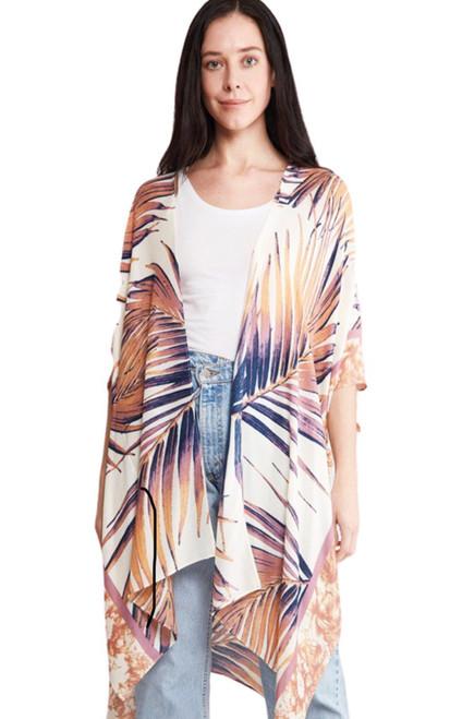 Palm Tree Kimono - Multicolor