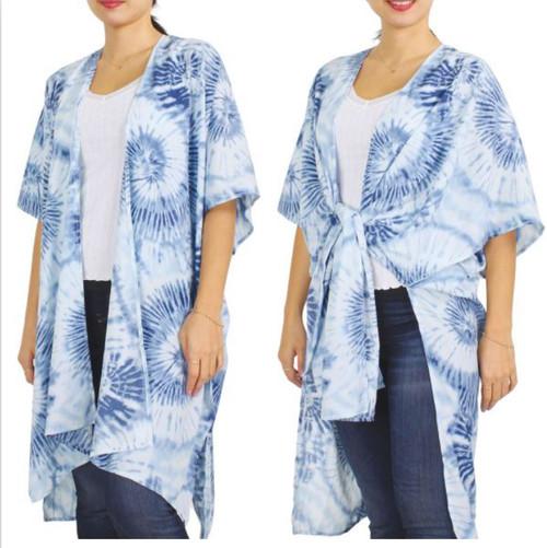 Tie Dye Kimono - Blue