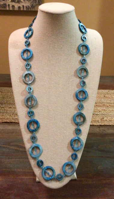 Single Strand Necklaces without Clasp Turquoise