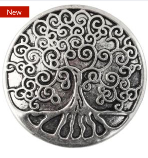 Silver Plated Magnetic Brooch Tree of Life