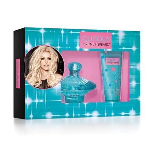 Britney Spears 2pc Curious 100ml EDP + 100ml B/Souffle (2021) (W)