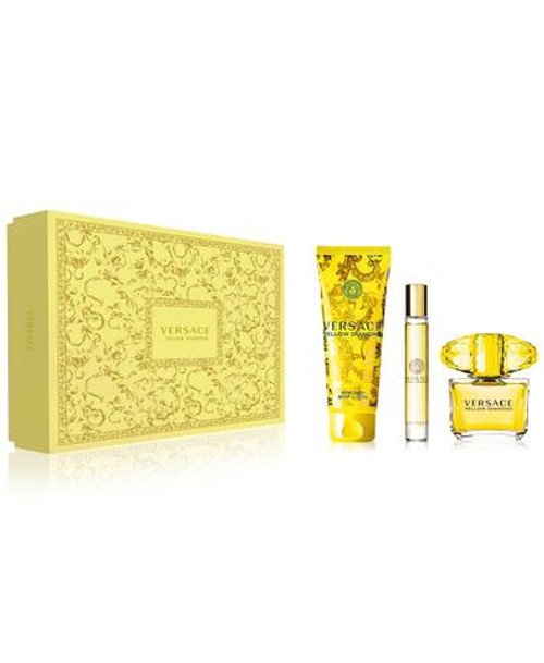 Versace Yellow Diamond 3pc 90ml EDT + 10ml EDT + 150ml BL (2021) (W)