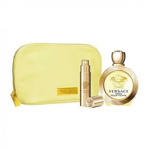 Versace 2pc Eros Pour Femme 100ml EDP + 10ml EDP w/ Yellow Pouch (2021) (W)
