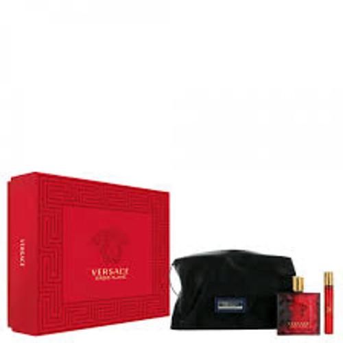 Versace 2pc Eros Flame 100ml EDP + 10ml EDP w/ Bag (2021) (M)