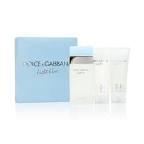 D&G 3pc Light Blue 100ml EDT + 100ml BC + 100ml SG (2021) (W)