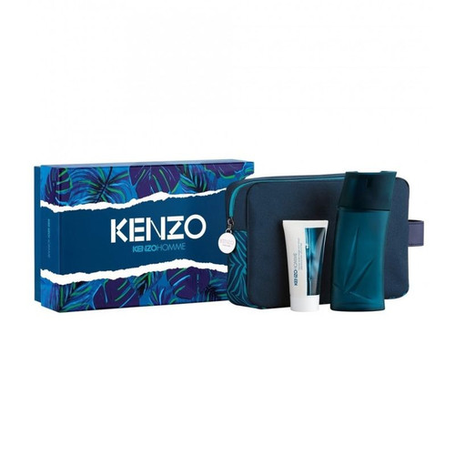 Kenzo 3pc Homme 100ml EDT + SG + Pouch (M)