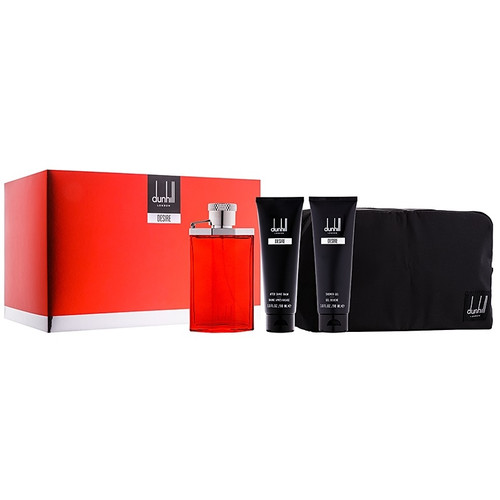 Dunhill 3pc Desire Red 100ml EDT + 90ml SG + 90ml AS Balm w/ Bag (2021) (M)