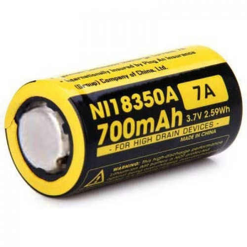 Nitecore NI18350A 700mAh battery