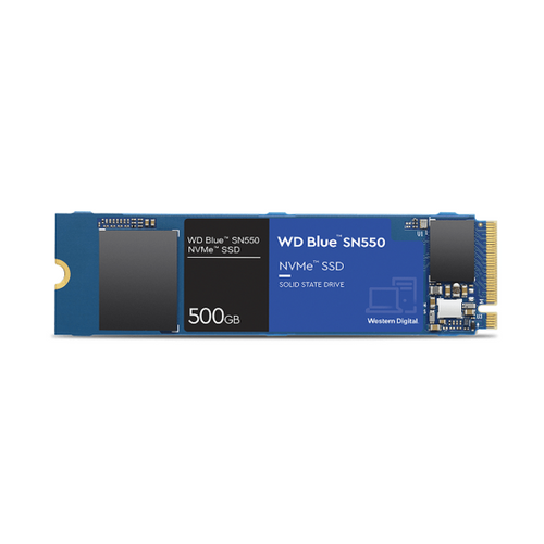 Wd SSD Blue Sn550 500GB Nvme Read 2400Mb/S, Write 1750Mb/S, 5Year