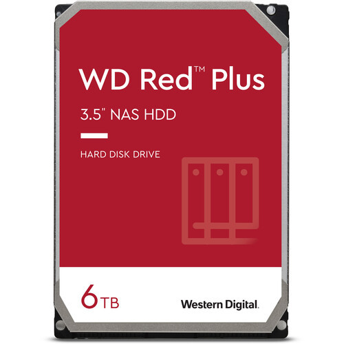 Wd Red Plus 6TB Sata3 128Mb Cache For Nas