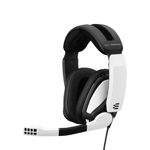Epos Sennheiser Gsp 301 - White/Black Colour. Closed Back Gaming Headset For Pc, Mac, Ps4 And Xbox One