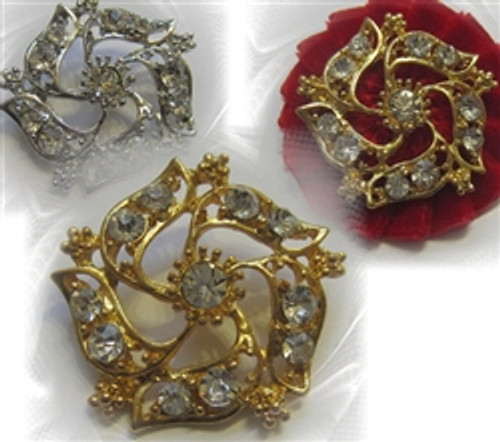Vintage Affects Embellish 32mm Gold or Silver