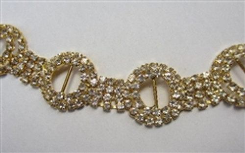 3D Chain 23mm Gold
