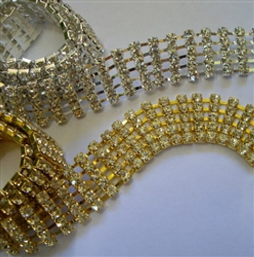 5 Row chain 20mm Gold or Silver