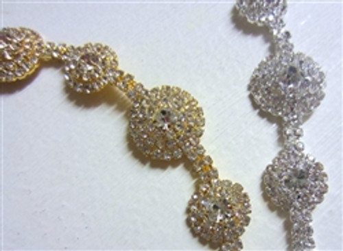 Pave Chain 20mm Gold or Silver