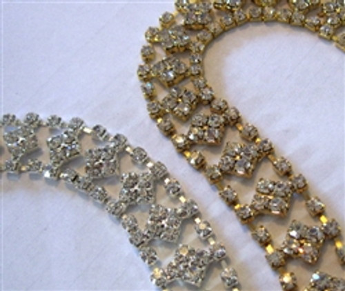 Diamond Centered Chain 20mm gold and silver