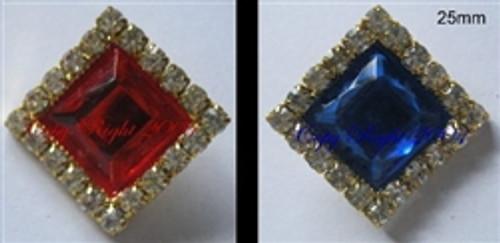 diamonds 25mm royal red
