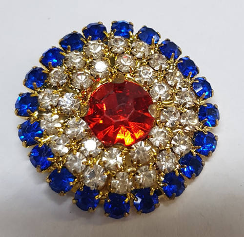 30mm pave red and royal