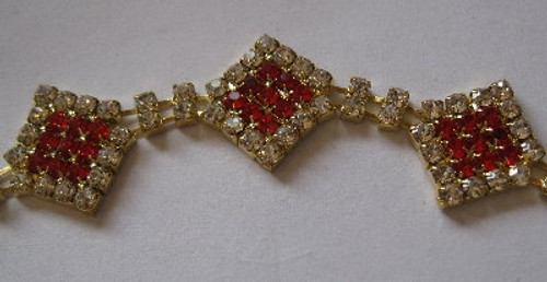 Diamonds Solid Red Gold Chain 18mm