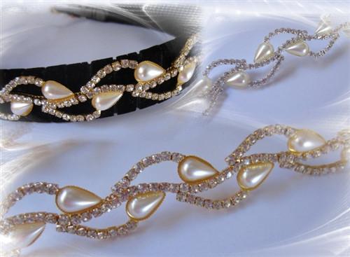 Pearl Twist Gold Chain 23mm