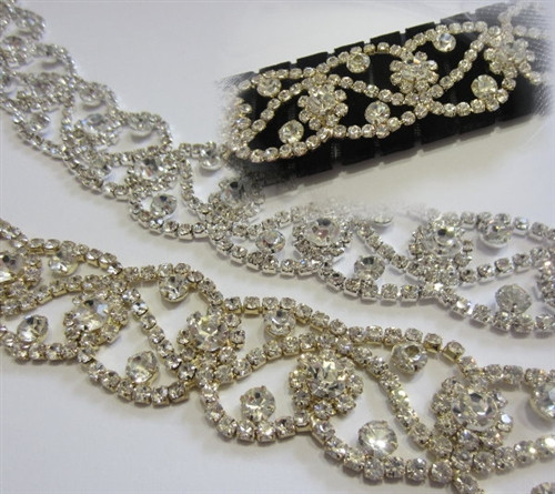Opulent Silver Chain 28mm x 10cm