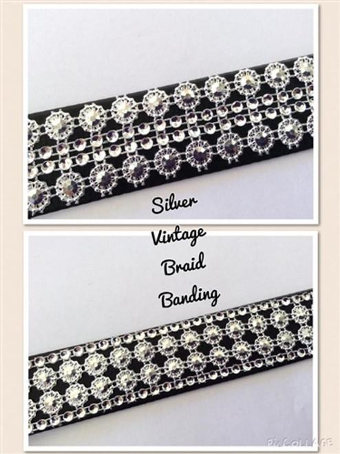 Braid Silver Banding 28mm x 10cms