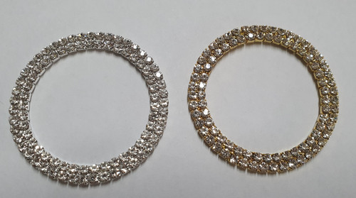 2 ROW GOLD SILVER RINGS