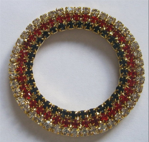 Tripple Navy/Red/Gold 3 Row Rings 50mm x 1