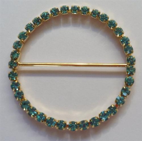 Aqua Gold 50mm Ring