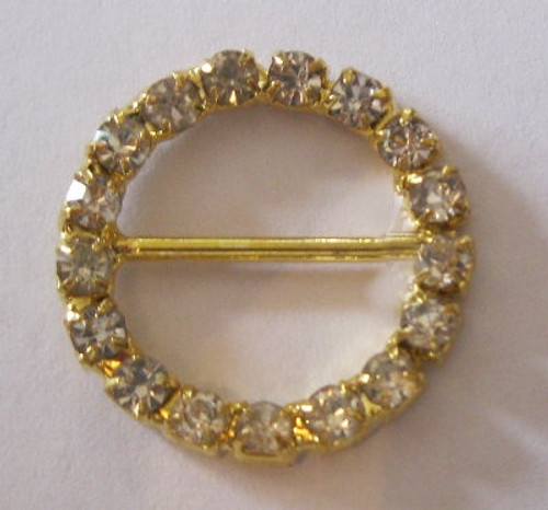 Crystal Mini Single Row Rings 30mm  Gold or Silver